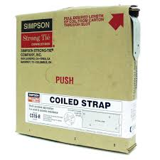 Coil Nails Home Depot by Simpson Strong Tie 25 Ft 16 Gauge Coiled Strap Cs16 R The Home