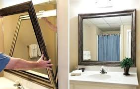framing bathroom mirror ideas the amazing large bathroom mirror frames small home ideas