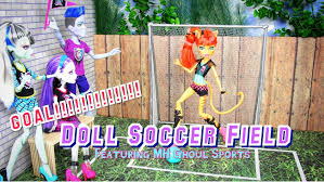 diy how to make doll soccer field plus quick review mh ghoul