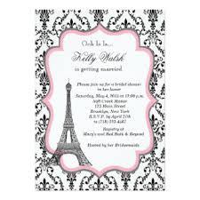 eiffel tower invitations eiffel tower pink bridal shower invitation hawaiian th on
