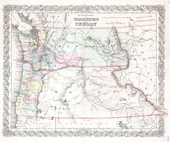 Map Of Washington by File 1853 Colton Map Of Washington And Oregon W Montana Idaho