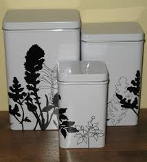 metal canisters kitchen ikea metal canister set black and white floral pattern ebay