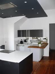 vannes cuisine cuisine haut de gamme noir et blanc design cuisine réalisée par