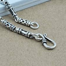 men necklace chains images V ya 100 sterling silver mens chains s925 silver 4mm bamboo chain jpg