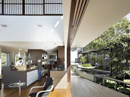 open kitchen design and terrace at stunning maleny house on