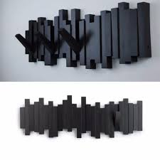 umbra sticks 5 hook wall mount flip hooks modern coat scarf hanger