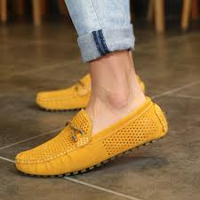 ugg boots sale philippines breathable genuine leather mens loafers yellow lazada ph