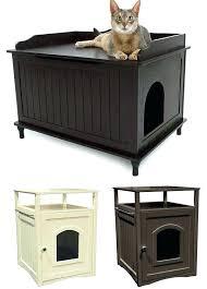 litter box end table cat hidden litter box enclosure nightstand end table kitty pet