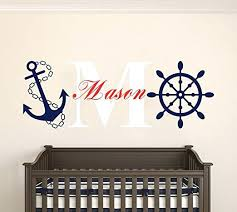 Love Anchors The Soul Wall - nautical themed wall decals black x love anchors the soul ocean