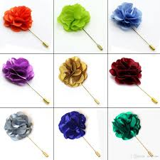 lapel flowers lapel flowers boutonniere stick with satin flowers handmade mens
