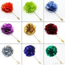 lapel flowers lapel flowers boutonniere stick with satin flowers handmade mens