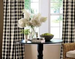 Brown Gingham Curtains Gingham Curtains Etsy