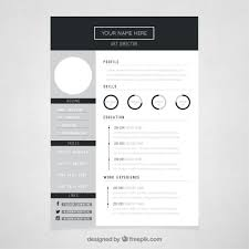 Free And Easy Resume Templates 10 Top Free Resume Templates Freepik Blog