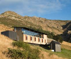 an architecture studio built on an extreme lyttelton hillside