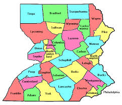 map of counties in pa east pennsylvania county trip reports