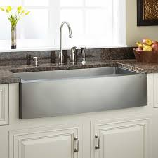 Optimum Stainless Steel Farmhouse Sink Curved Apron Kitchen - Kitchen sinks apron front