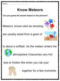comet asteroid and meteor facts u0026 worksheets for kids