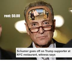Meme Restaurant Nyc - rent 000 schumer goes off on trump supporter at nyc restaurant