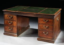 a chippendale period mahogany partners desk circa 1765 peter