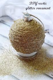 diy rustic glitter ornament mod podge rocks