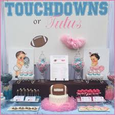 touchdowns or tutu u0027s gender reveal party ideas photo 1 of 9