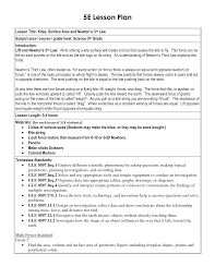 Plan 5 by 5 E Lesson Plan Template 5e Lesson Plan Template