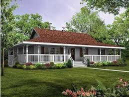 one farmhouse rap all way around porch single farm house house plans