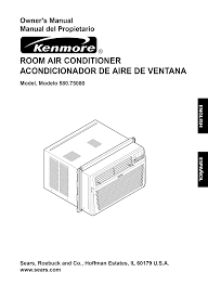 kenmore air conditioner 580 75080 user guide manualsonline com