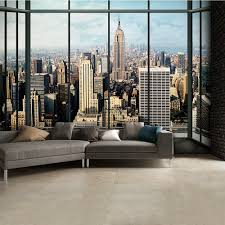 wall mural new york home design ideas wonderful new york city window effect skyline wall mural 315cm x 232cm