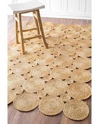 jute rug deal alert eco fiber braided reversible circles