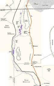 Map Of The Dead The Route Of The Jornada Del Muerto Journey Of The Dead Man