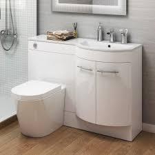 1200mm right hand modern bathroom gloss white basin toilet vanity