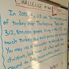 when is thanksgiving week middle math man challenge of the week