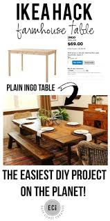 ikea farmhouse table hack ikea hack build a farmhouse table the easy way east coast creative
