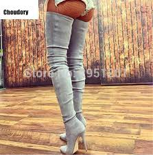 s knee boots on sale 2017 sale s thigh high boots black grey beige elastic