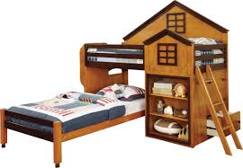 Hokku Designs Stewart House Twin Loft Bunk Bed  Reviews Wayfair - Twin loft bunk bed