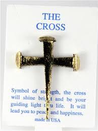 6030273 rugged nail cross lapel pin jesus christian nails brooch