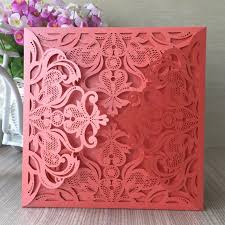 Invitation Printing Services 50pcs Lot Orange Laser Cut Wedding Invitation Card High Grade