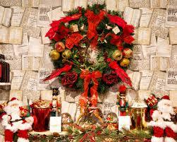 christmas wreath above fireplace free stock photo public domain