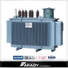 an oil immersed power transformer is on the ground electric