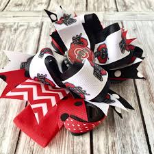 ohio state ribbon buy ohio state baby headband ohio state hairbow ncaa baby headband