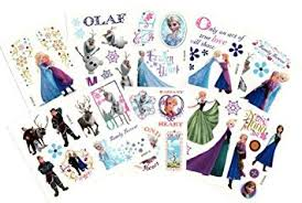 amazon com disney frozen temporary tattoos set of 10 sheets