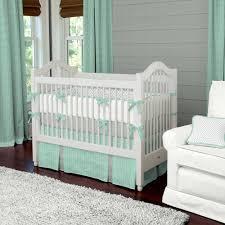 mint herringbone crib bedding neutral baby bedding matching with