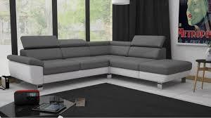 canapé gris but canapé angle cv réversible william ii pu gris blanc canapé but