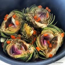 artichaut cuisine artichauts à la barigoule recette facile marciatack