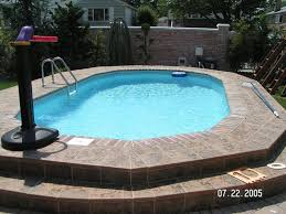 refreshing semi inground pools with natural surroundings gorgeous
