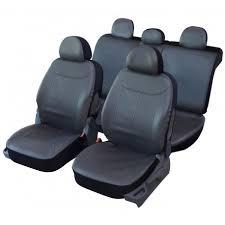 couvre siege auto cuir housse de siège auto simili cuir boston gris