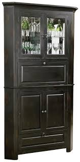 furniture corner liquor cabinet for mixing and serving a fixed