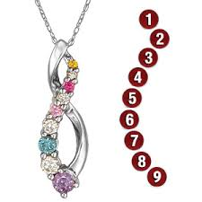 mothers pendant infinity s pendant sterling silver with 9 genuine birthstones