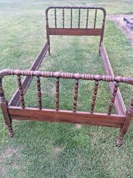 Antique Jenny Lind Twin Bed by Antique 19th Century Victorian Jenny Lind Walnut Spindle Bed